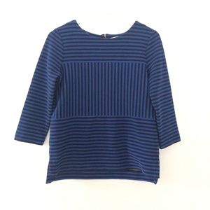 Madewell Small 3/4 Sleeve Pullover Striped Top